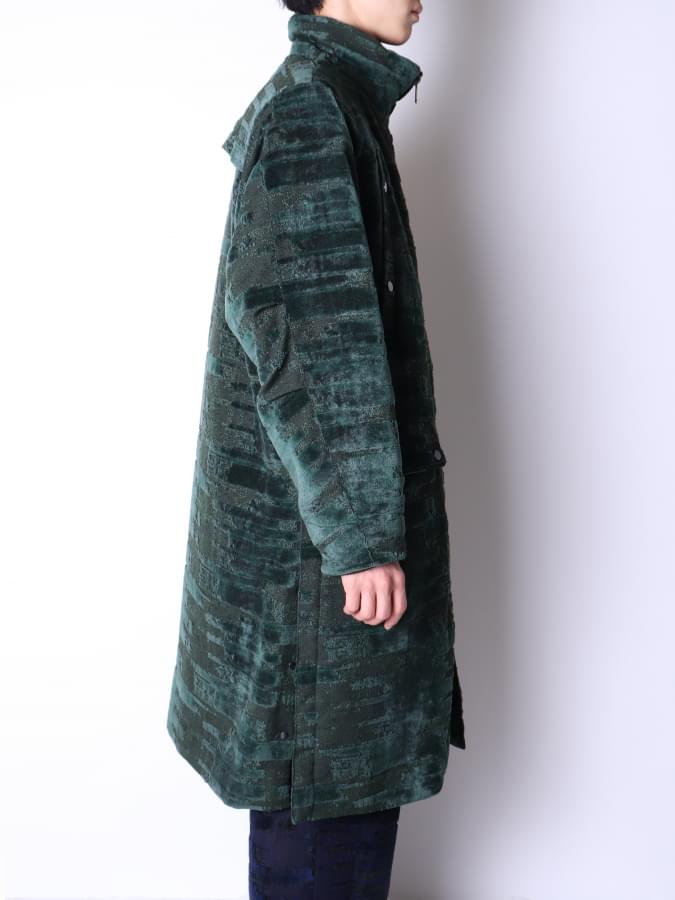 NAKAYA-GLITCH VELVET COAT