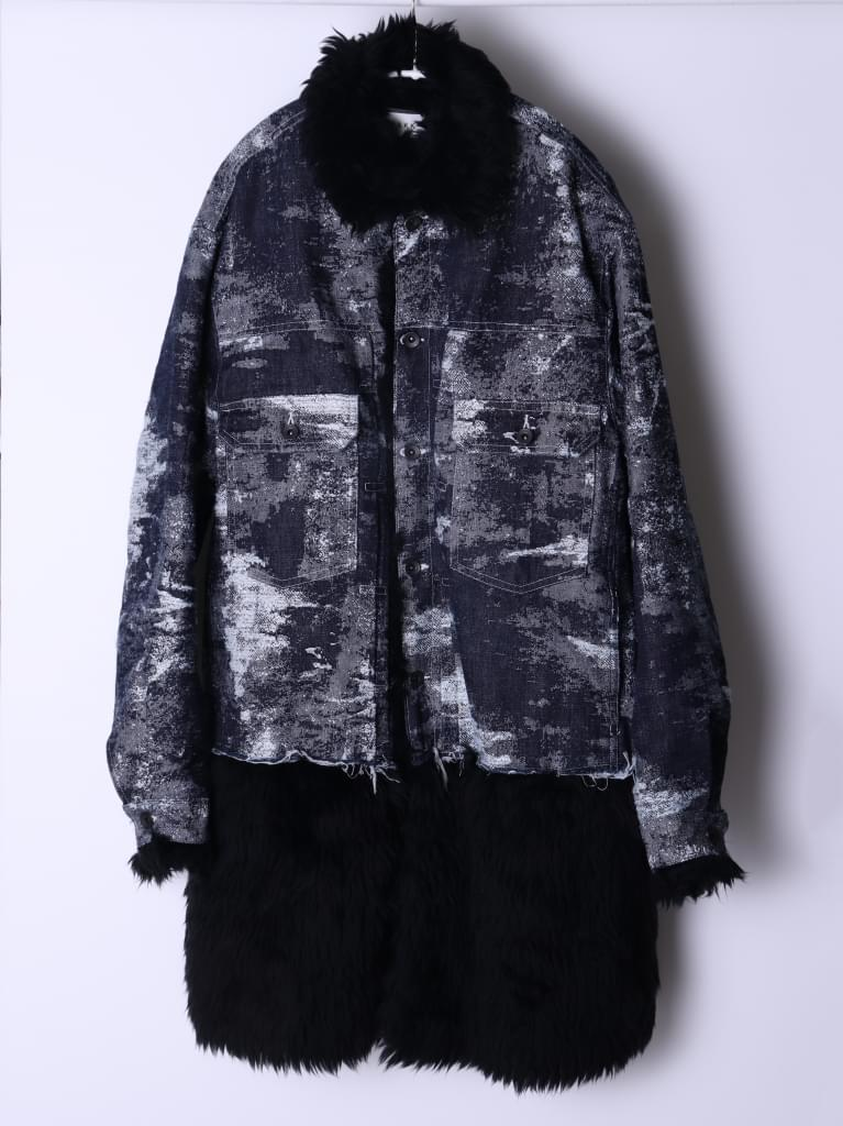 TAAKK DENIM Fur coat/ONE WASH