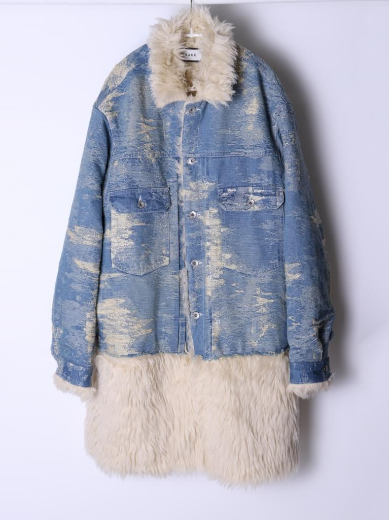 TAAKK DENIM Fur coat/BLEACH