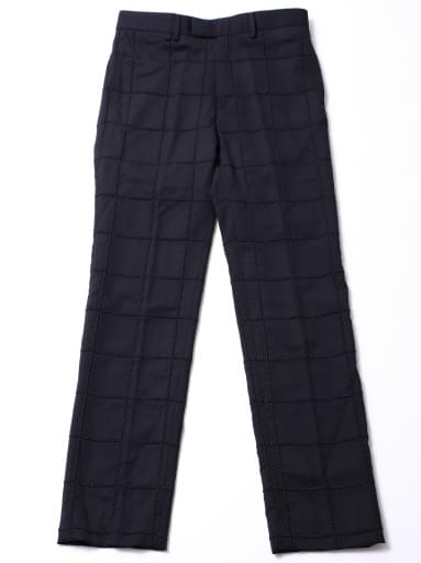 STUDS EMBROIDERY TROUSERS/BLACK/BLACK